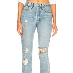 NEW WITH TAGS!  Re/Done High Rise Straight Jean
